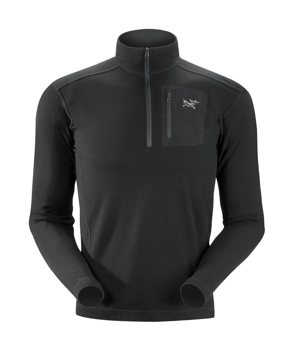 Arcteryx Black Rho LTW Zip