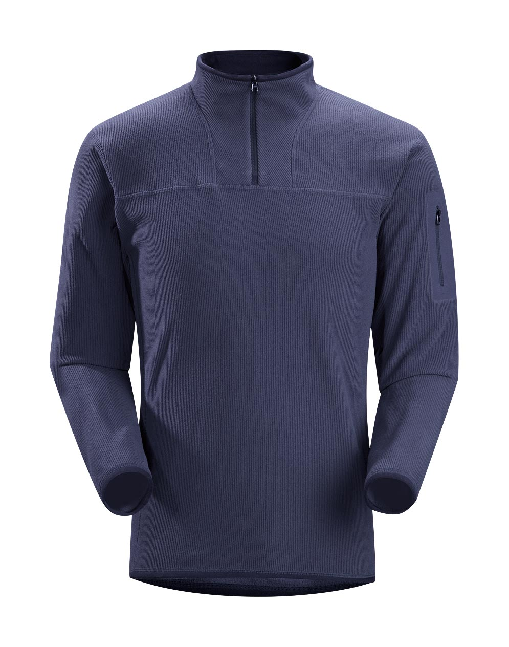 Arcteryx Blue Kyanite Caliber Zip Neck