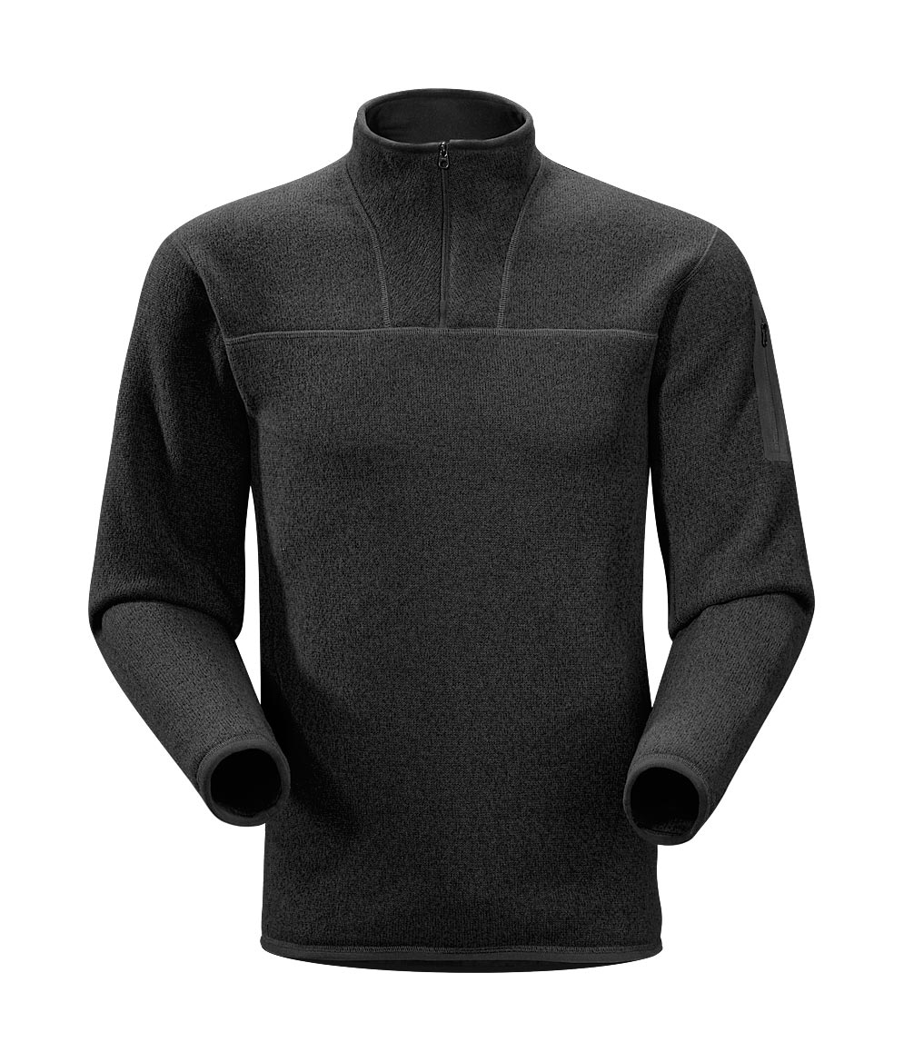 Arcteryx Black Covert Zip Neck