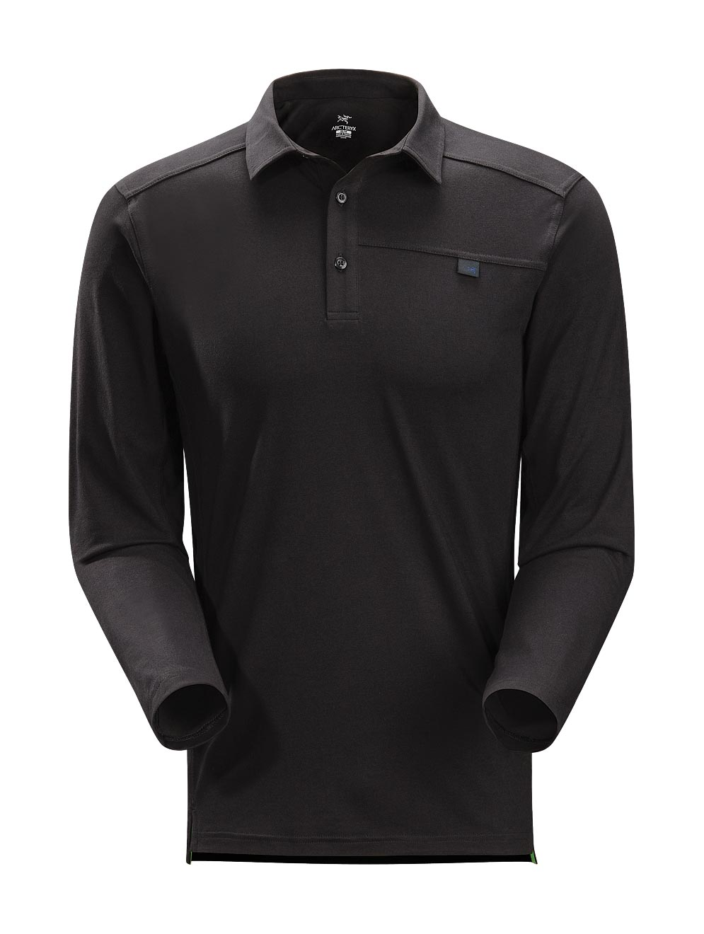 Arcteryx Black Captive Polo LS