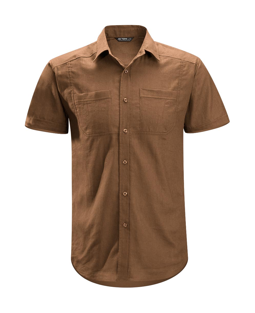 Arcteryx Nubian Brown Ravelin Shirt SS - New