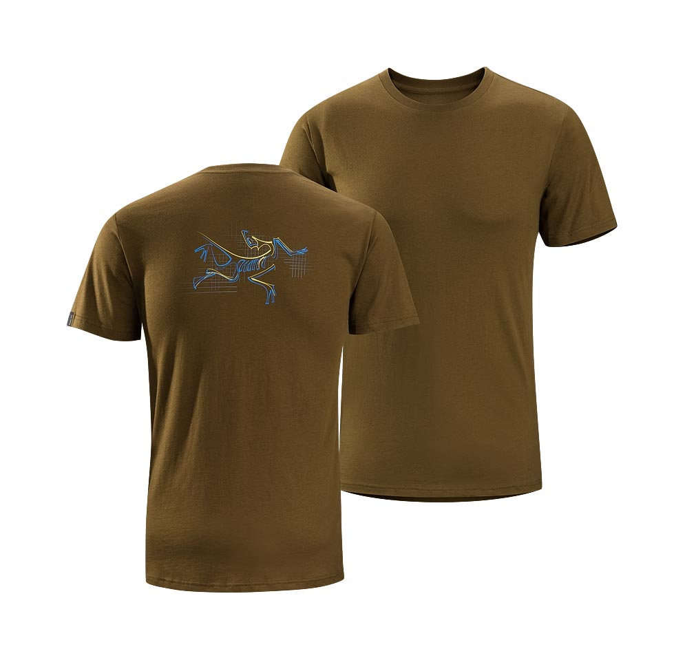 Arcteryx Donegal Brown Graph Bird T-Shirt