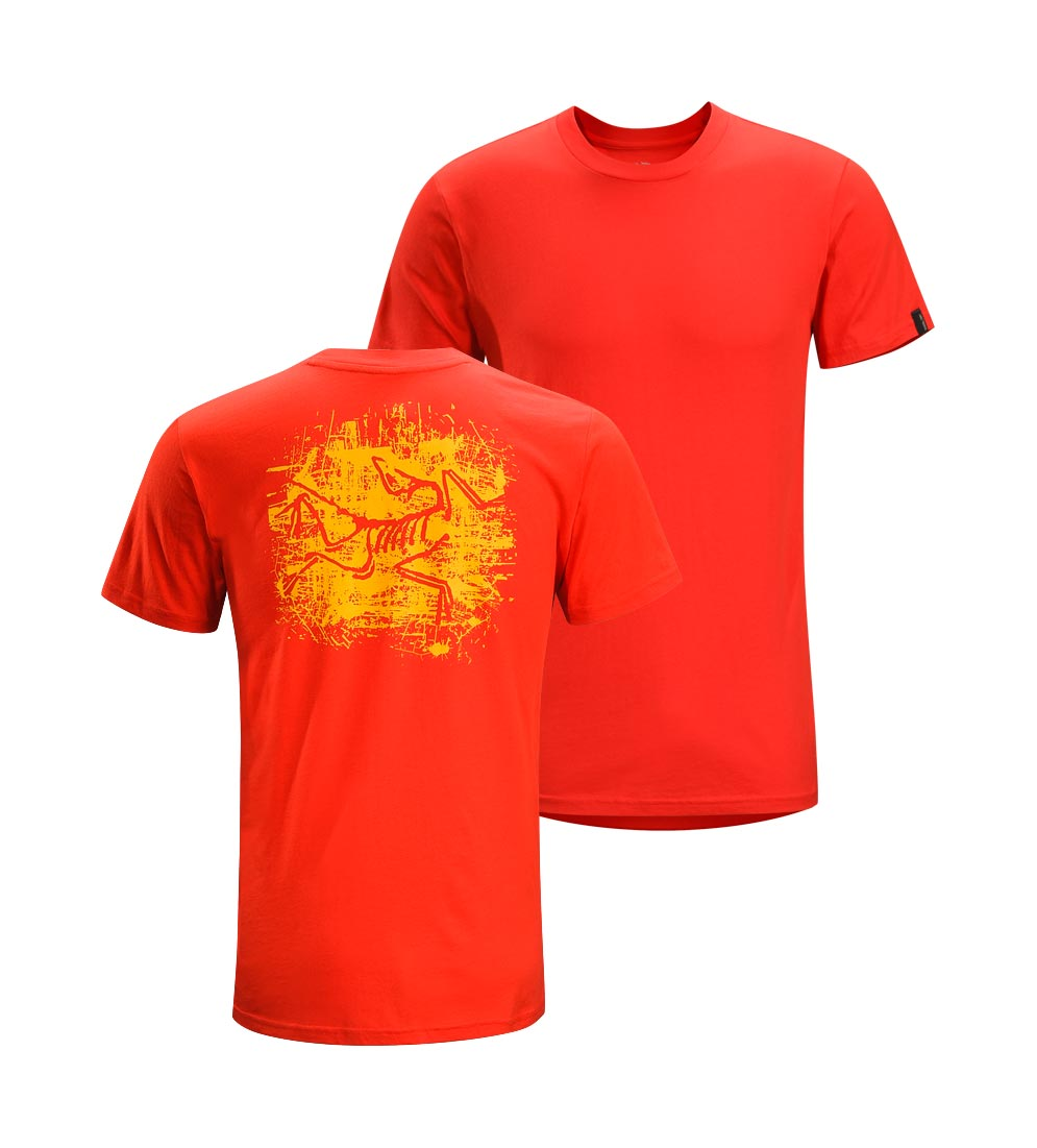 Arcteryx Road Rash Red Distressed Bird T-Shirt