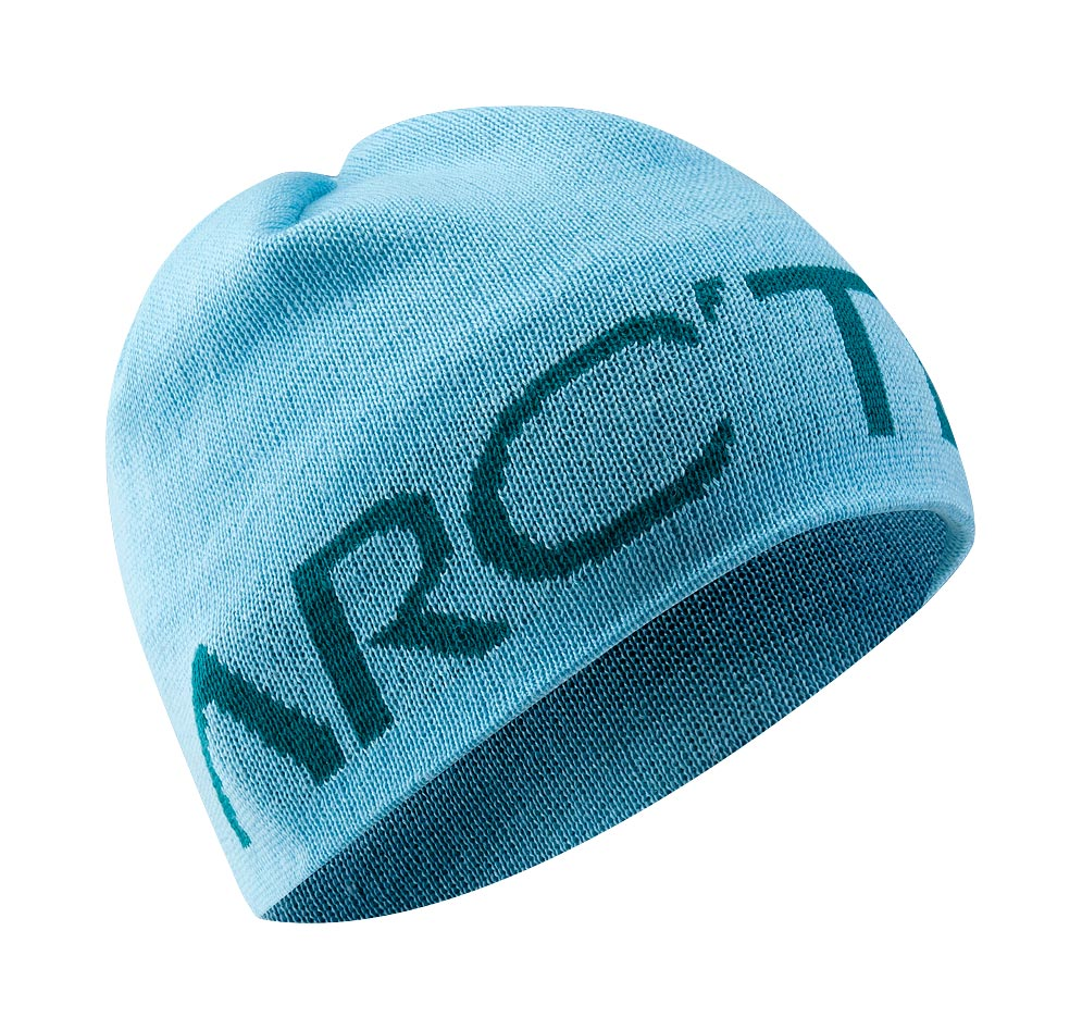 Arcteryx Reef Blue Word Head Toque